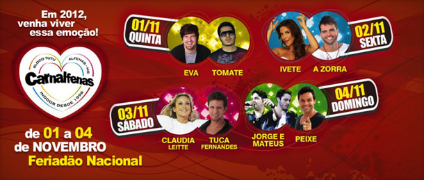 carnalfenas 2012 shows
