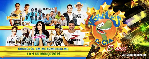 carnaval muzambinho 2014 vermes e cia