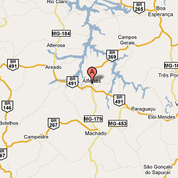 mapa alfenas